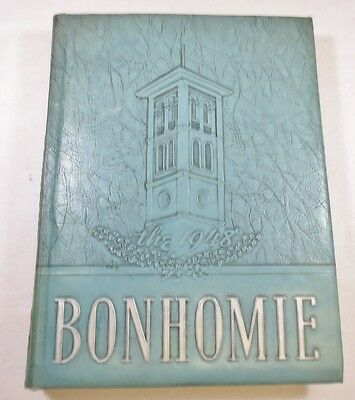 Vintage Class School College Yearbook 1948 The Bonhomie Furman University SC