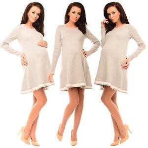 Purpless-Maternity-Asymmetric-Pregnancy-Top-Tunic-Mini-Dress-with-Bow-6218