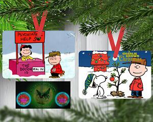 Ribbon v1 It/'s A Wonderful Life Custom Aluminum 2 Sided Christmas Tree Ornament