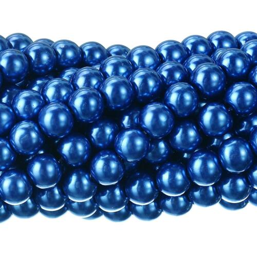 20 COLOURS ROUND GLASS PEARL BEADS 100x4mm 50x6mm 30x8mm TOP QUALITY