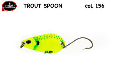TROUT SPOON MOLIX  COL.156 GR  2,5 COL MAT CHART  STRIPE SCALES AREA TROUT SPIN