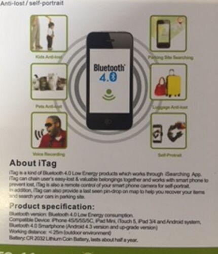Alarma Anti Perdida Anti Robo Bluetooth dispositivo de color verde GPS Rastreador Buscador de Llaves