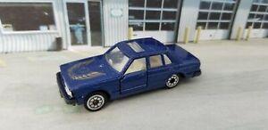 Vintage Unbranded Blue Datsun Nissan Bluebird Maxima 1/64 scale Die-cast JDM Car