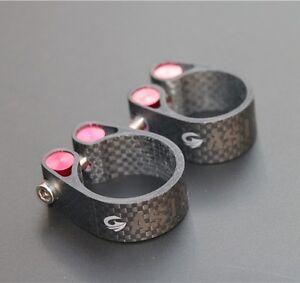 Asiacom-fibre-de-carbone-route-Mountain-Bike-Velo-Tige-de-selle-Clamp-pour-27-2-30-8-31-6mm-Tige-de
