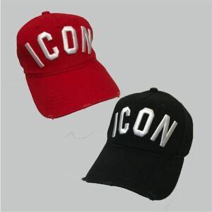 Dsquared-ICON-Black-Red-Snapback-Baseball-Cap-ONE-SIZE-Men-and-women-Unisex