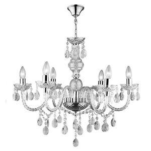 Lampadario-vetro-6-punti-luce-lampada-sospensione-soffitto-gocce-cristallo-E14