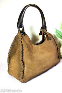 8c7a673345de Image is loading Vintage-GUCCI-Suede-Leather-Light-Brown-Western-Style-