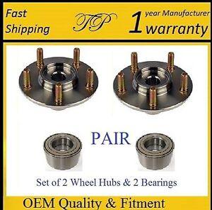 2006-2010 MAZDA 5 Front Wheel Hub /& Bearing Kit PAIR 4-WHEEL ABS