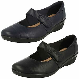 Image is loading Ladies-Clarks-Everlay-Kennon-Leather-Casual-Shoes-E-