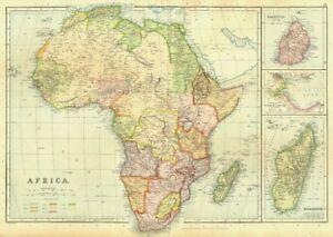 Colonial Africa Mauritius Madagascar Aden Gulf Of Tajura Blackie
