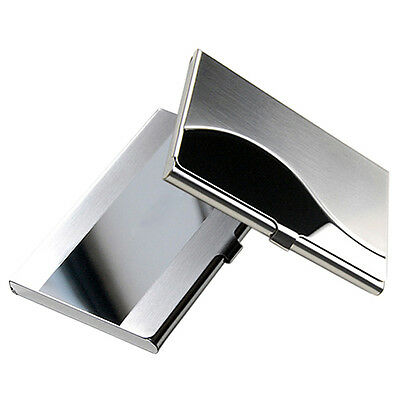 NEW STYLE STAINLESS STEEL CASE AWESOME BOX BUSINESS ID CREDIT CARD HOLDER COVER