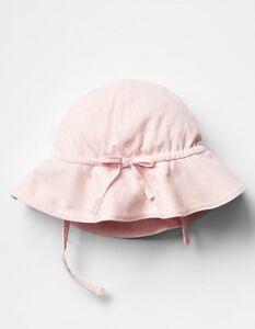14bd9eb4d0d GAP Baby Girls 0-3 Months NWT Light Pink Knit Sun   Beach Hat w Bow ...