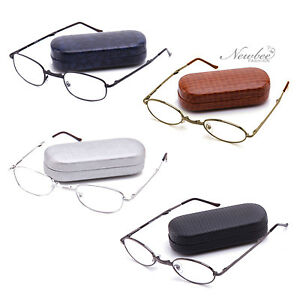 Readers-Foldable-2-Pack-Reading-Glasses-Hard-Case-amp-Cloth-Many-Strengths