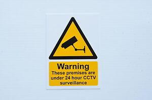 Warning These Premises Under 24 Hour CCTV Surveillance A4 ...