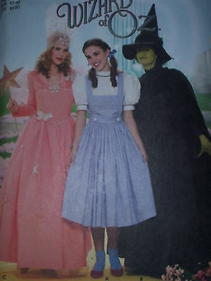 Simplicity 4136 Wizard of Oz Dorothy Wicked Witch and Glinda Good Witch Halloween Costume Sewing Pattern for Women Sizes 14-22