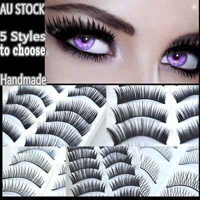 10 Pairs of False Eyelashes Natural Long Thick Handmade Extension Lashes