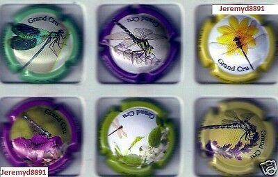 Caux D les grands voiliers Série de 6 new capsules de  champagne