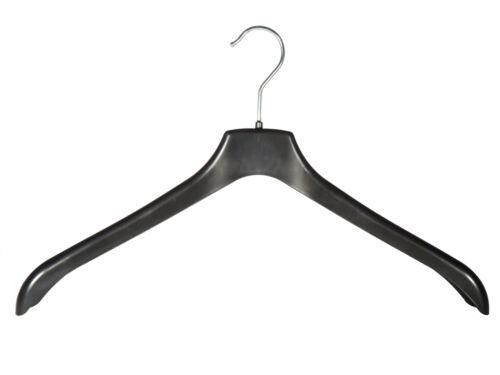 44cm NEU Kleiderbügel für Blusen 125 Stück Blazer und Jacken schwarz NNF44b