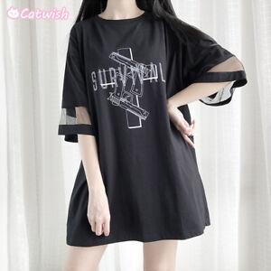 Harajuku-Japanese-Sweet-Lolita-Oversize-Long-T-shirt-Short-Sleeve-Girl-Tops-TEE