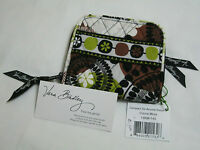 Vera Bradley Cocoa Moss Compact Zip Around Wallet Coin For Purse Tote Bag