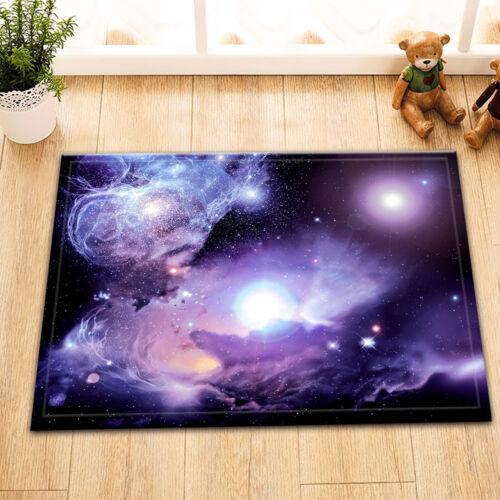"""Space Nebula Door Mats 15X23/"""" Kitchen Bathroom Shower Floor Non-Slip Mat Rug"""