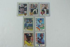 7-Card-Early-80s-HOF-Lot-Ripken-Sandberg-Gwynn-Brett-Ozzie-Smith
