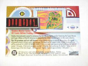 1994-DC-MASTER-SERIES-DOOMSDAY-D1-DIAMOND-CONFERENCE-PROMO-CARD-SKYBOX-RARE