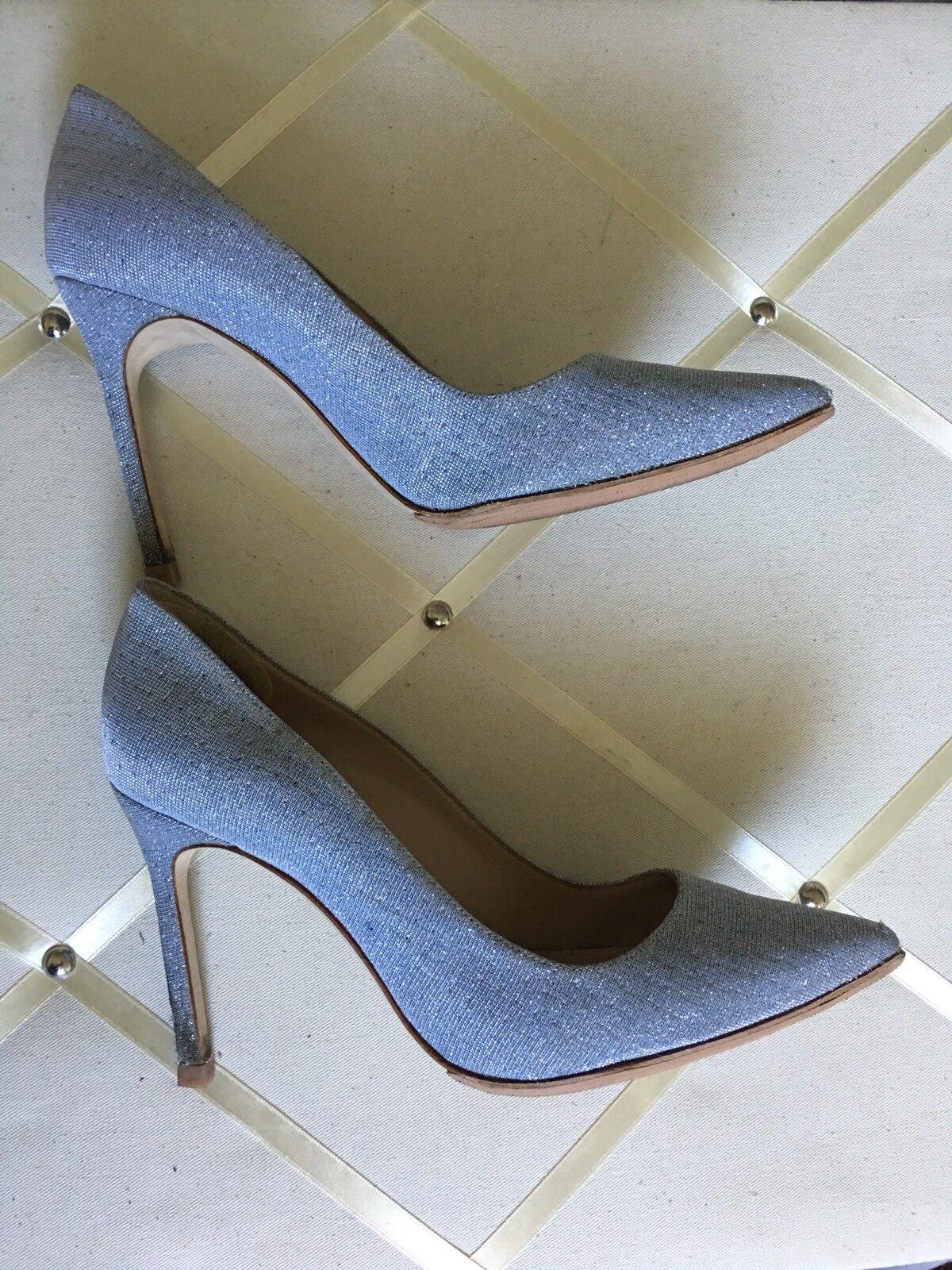 Manolo Blahnik Sparkly Fabric Pumps Heels Taille 37