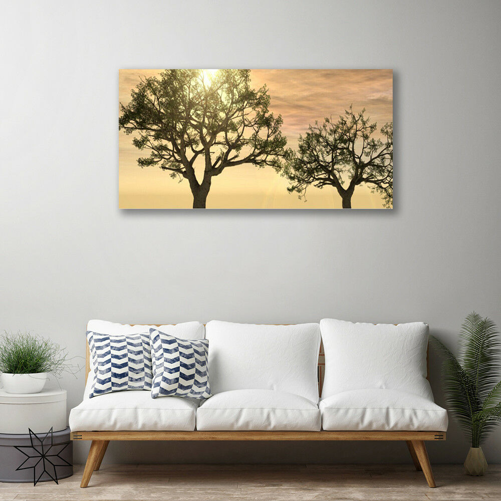 Canvas print Wall art on 100x50 Image Picture Trees Trees Trees Nature c7660d