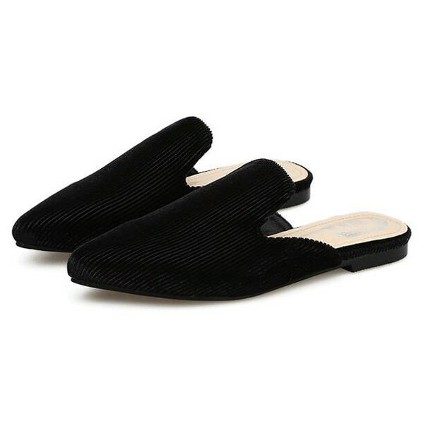 Ciabatte eleganti sabot  noir  basse eleganti comodi simil pelle 9846