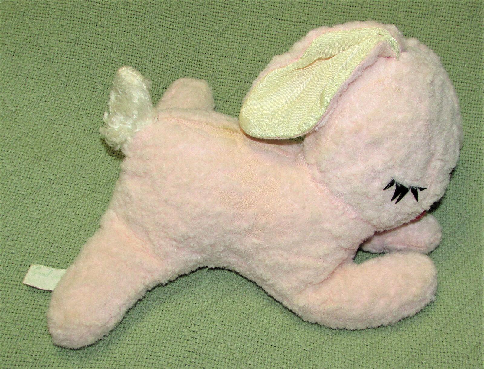 11  Vintage GUND CREATIONS Pink Bunny J SWEDLIN Rabbit Plush Stuffed Sleeping