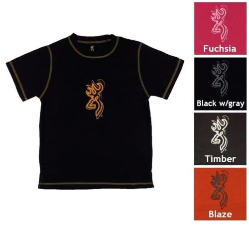 NWT Youth Browning Performance Printed Short Sleeve Tech Tee T-Shirt Size S-XL