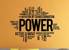 Fitness Wall Decal Motivation Gym Sport Vinyl Sticker Atr Home Wall Decor (10fw)