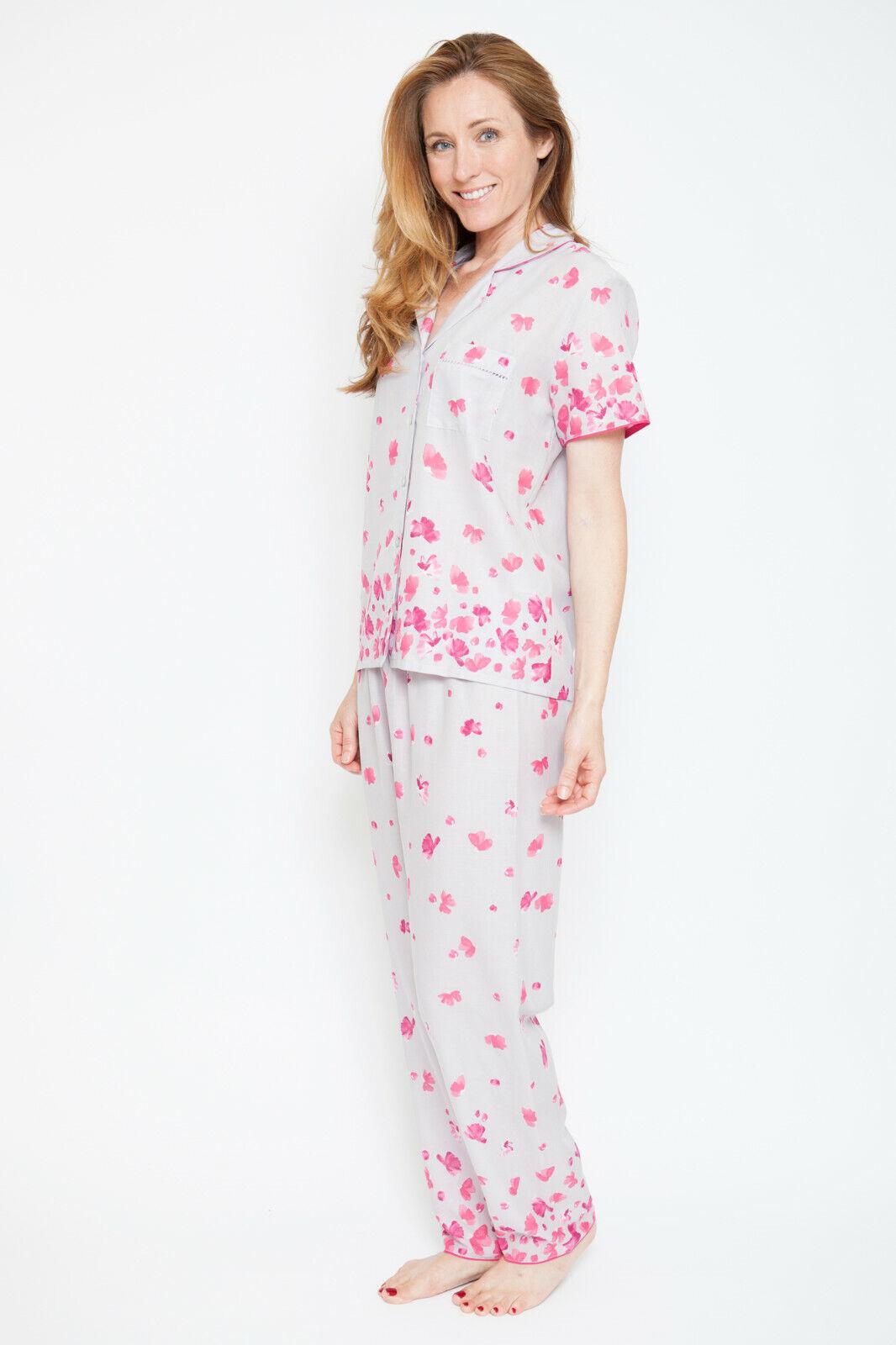 'Ivy' Vintage Petal Short Sleeve Pyjama Set - Nora pink by Cyberjammies (1300)