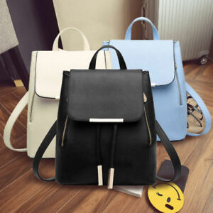 Image Is Loading Women Las Pu Leather Backpack Travel Shoulder Bags