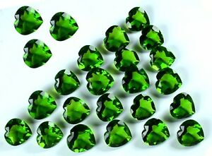 Olive-Green-Peridot-Loose-Gemstone-Lot-AGSL-Certified-5000-Ct-1Kg-Heart-Shape