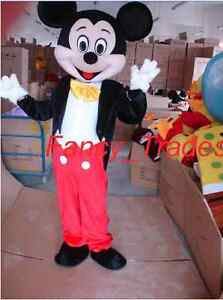 Image is loading Best-Deal-Mickey-Mouse-Mascot-Costume-Adult-Fancy- & Best Deal Mickey Mouse Mascot Costume Adult Fancy Dress+Fast Ship+ ...