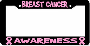 Breast Cancer Awareness License Plate Frame Ebay