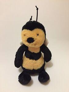 "Jellycat Bashful Bee Small Plush Soft Toy 8"" Comforter Black Yellow Honey"