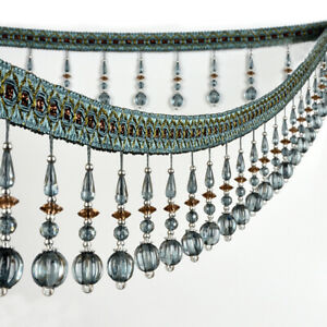 1-Meter-Curtain-Sewing-Trim-Crystal-Bead-Tassel-Fringe-Home-Decor-Lace-Accessory
