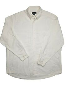 Men's Country Road White Relax Fit Cotton Long Sleeve Shirt Size M