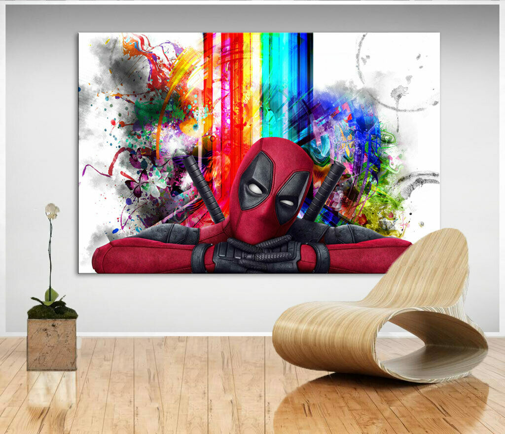 Deadpool Marvel Filme Bild Leinwand Abstrakte Kunst Bilder Wandbilder XXL D1742