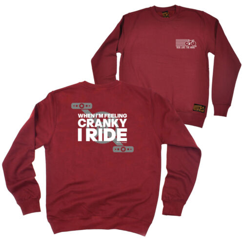 FB Cycling Sweatshirt Feeling Cranky Novelty Birthday Christmas Sweater Jumper