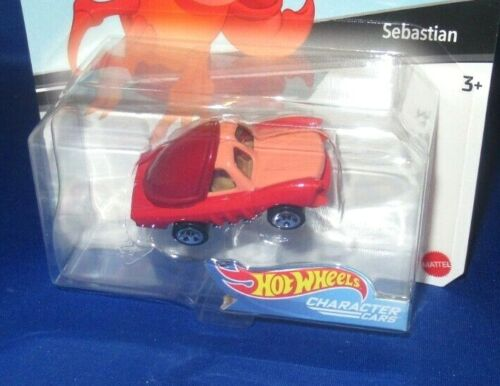 DISNEY SERIES 7 LITTLE MERMAID SEBASTIAN #2 HOT WHEELS COLLECTOR CHARACTER CARS
