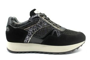 Scarpe da donna Nero Giardini 013190D sneakers casual sportive basse comode nere