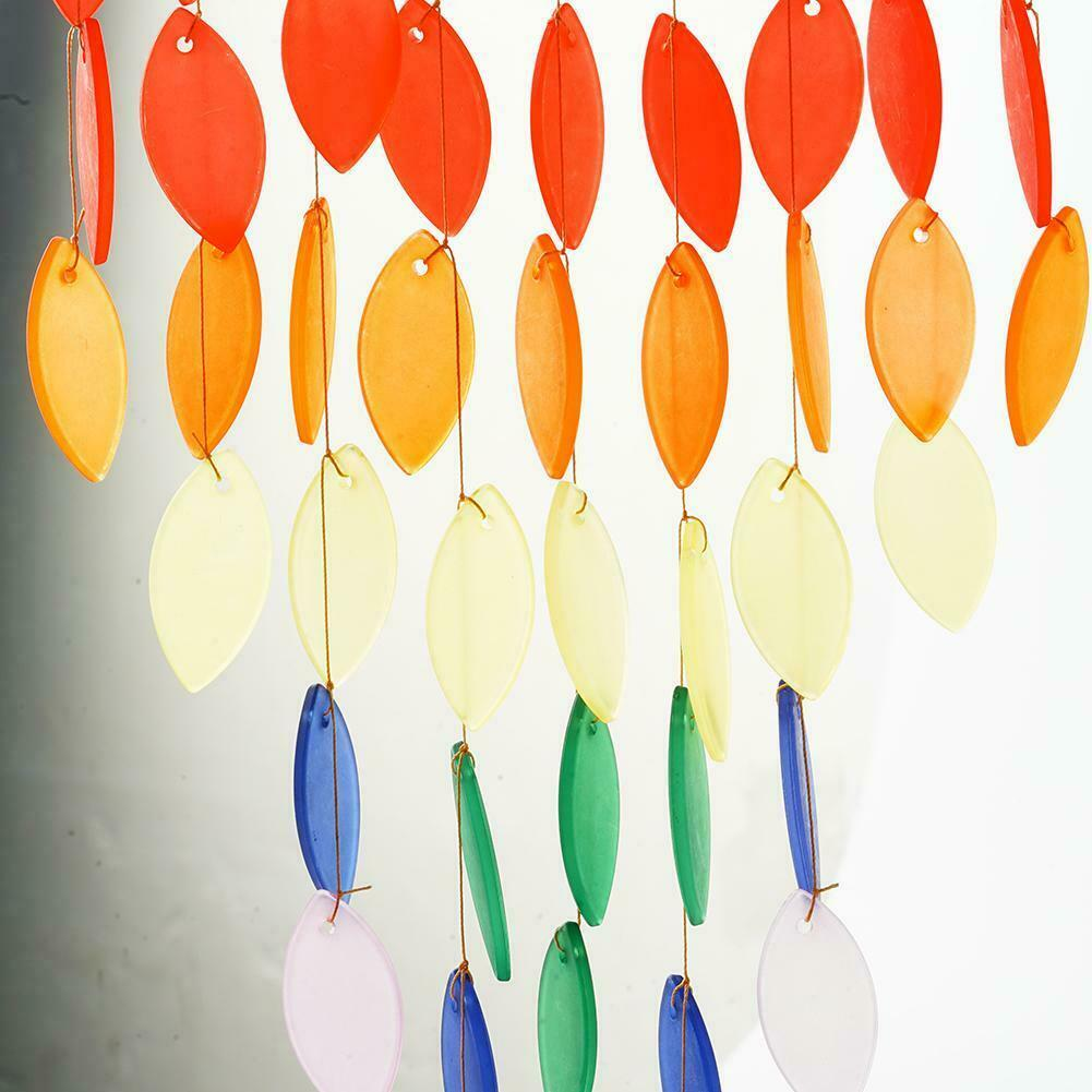 Rainbow Wind Chimes Outdoors Windchime For Garden Patio Outdoor Porch DIY 2021