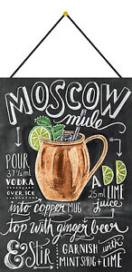 Moscow-Mule-Recipe-Tin-Sign-Shield-with-Cord-Tin-Sign-7-7-8x11-13-16in-FA0306-K