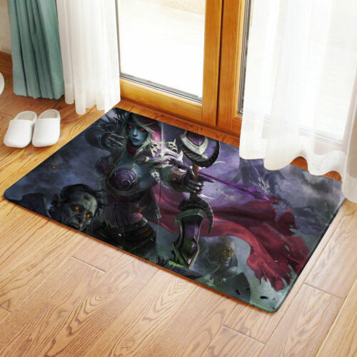 NEW World of warcraft WC Bedroom Bathmat Rug Toilet Floor Cover Carpet Non-slip