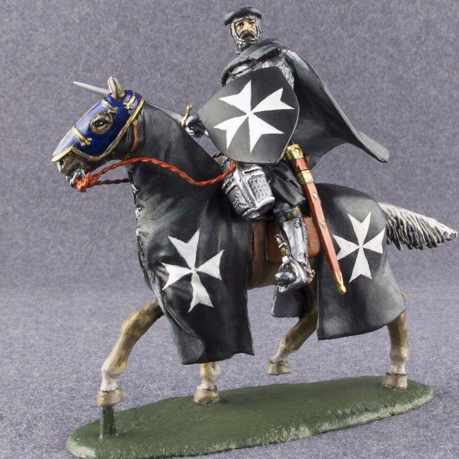 1/32 Medieval Caballero Hospitaller jinete Pintado a Mano Juguete de estaño soldado 54mm