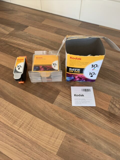 GENUINE KODAK 10B BLACK AND 10C COLOUR PRINTER CARTRIDGES NEW Box Open